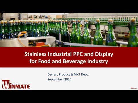 Stainless PCAP B Series Panel PC for Food and Beverage Industry